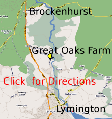 map showing Great Oaks Farm